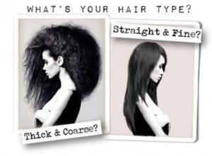 testing hair type