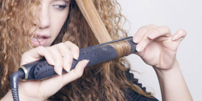 curly hair flat iron
