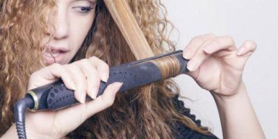 curly hair flat iron